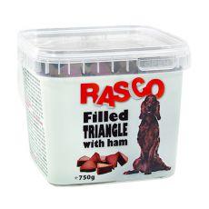 Hundesnack RASCO - gefülltes Dreieck mit Schinken, 750g