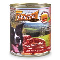 Feuchtnahrung PRINCE Premium – Rind mit Papaya, Karotten und Spinat 800g