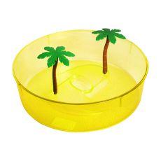 Kunststoffterrarium für Schildkröten - gelber Kreis 24,5 cm