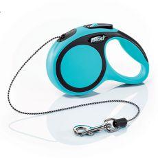 Flexi NEW COMFORT Führleine XS bis 8kg, 3m Seil - blau