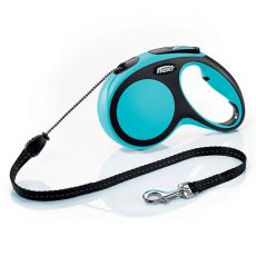 Flexi NEW COMFORT Seil-Leine M bis 20kg, 8m Seil - blau