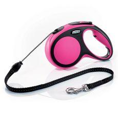 Flexi NEW COMFORT Führleine M bis 20kg, 8m Seil -pink