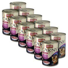 Futter CARNY ADULT mit Fleischgemisch - 12 x 400 g