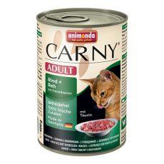 Feuchtnahrung CARNY ADULT Rind, Reh und Preiselbeeren - 400 g