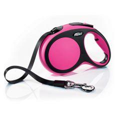Flexi NEW COMFORT Gurt-Leine L bis 50kg, 8m Gurt - pink