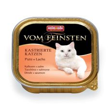 Animonda Vom Feinsten Castrated Cats - Pute + Lachs 100g