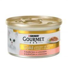 Nassfutter Gourmet GOLD - Lachs und Huhn in Soße, 85g