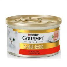 Nassfutter Gourmet GOLD - Pâté mit Rindfleisch, 85g