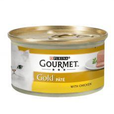 Nassfutter Gourmet GOLD - Pâté mit Hühnerfleisch, 85g
