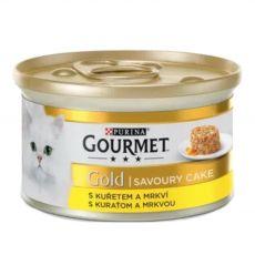 Nassfutter Gourmet GOLD - Savoury Cake mit Huhn und Karotten, 85g