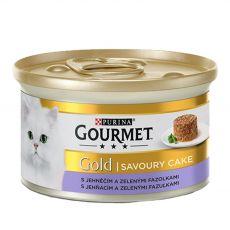 Nassfutter Gourmet GOLD - Savoury Cake mit Lamm und  grünen Bohnen, 85g