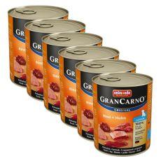 Dose GranCarno Fleisch Junior Rind + Huhn - 6 x 800g