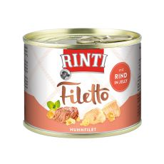 Rinti Filetto - Huhn und Rind in Jelly, 210g