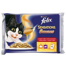 Felix Sensations Sauces - Pute und Lamm in Soße, 400g
