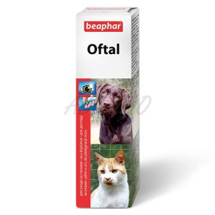Augentropfen Beaphar Oftal für die Augenpflege - 50ml