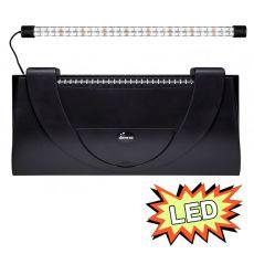 Aquarienabdeckung mit Leuchte 60x30cm LED EXPERT 13W - SCHWARZ eckig