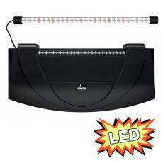 Aquarienabdeckung mit Leuchte 60x30cm LED EXPERT 13W - SCHWARZ oval