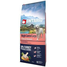 ONTARIO Weight Control Large - turkey & potatoes 12kg