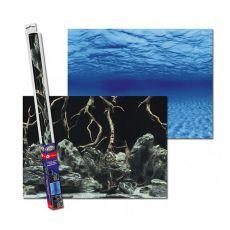 Fototapete aus Papier für Aquarium ROOTS/WATERS L - 100 x 50cm