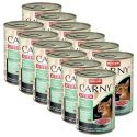 Nassfutter CARNY KITTEN Rind, Huhn und Kaninchen 12 x 400 g