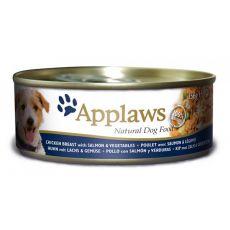 Feuchtnahrung APPLAWS dog Huhn, Lachs und Gemüse -156g