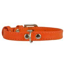 Flaches Lederband orange 19 - 25cm, 9mm