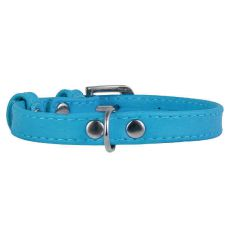 Flaches Lederband blau 19 - 25cm, 9mm