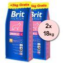 Brit Premium Junior Large 2 x 15kg + 6kg GRATIS