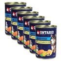 Feuchtnahrung ONTARIO Multi Fish und Lachsöl, 6 x 400g