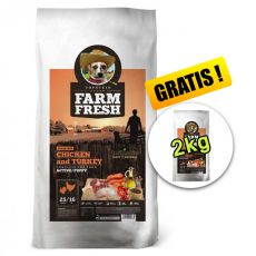 Farm Fresh Chicken and Turkey Active/Puppy GF 15 + 2kg GRATIS