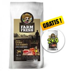 Farm Fresh Lamb and Rabbit Adult Large Breed GF 15 +2kg GRATIS