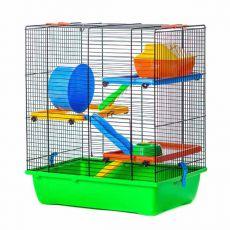 Käfig für Hamster GINO TEDDY LUX II color mit Zubehör aus Kunststoff