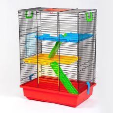 Käfig für Hamster TEDDY II color mit Zubehör aus Kunststoff
