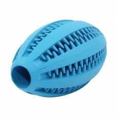 Hundespielzeug - Rugby-Ball, blau 11 cm