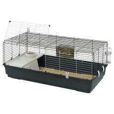 Käfig für Nagetiere RABBIT 120 - mit Ausstattung, dunkelgrau