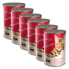 Nassfutter BEWI CAT Meatinis GEFLÜGEL 6 x 400g