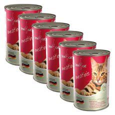 Nassfutter BEWI CAT Meatinis WILD - 6 x 400g, 5+1 GRATIS
