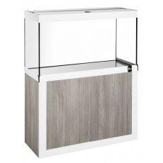 Akvárium so skrinkou FINE LINE 120x40cm LED 30W hľuzovkovo-biele