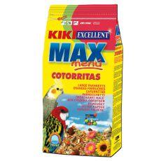 KIKI MAX MENU Cotorritas - Futter für Nymphensittiche und Agapornis 1kg