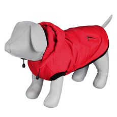 Wintermantel Palermo mit Kapuze für Hunde, rot - 40cm