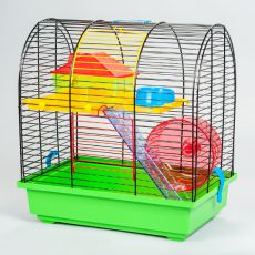 Käfig für Hamster - GRIM II mit kunststofflichem Zubehör