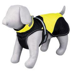 Hundemantel Safety Flash schwarz/gelb mit Licht, L 62 cm