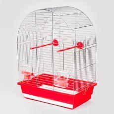 Käfig für Papagei LUSI I chrom - 39 x 25 x 53 cm