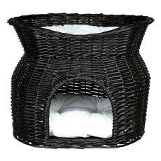Weidenkorb für Hunde oder Katzen - schwarz