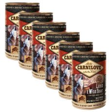 BRIT Carnilove Wild Meat Lamb & Wild Boar 6 x 400 g