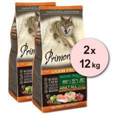 Primordial GF ADULT - Huhn und Lachs 2 x 12 kg