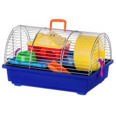 Hamsterkäfig - GRIM I ZINC mit Kunststoffaustattung