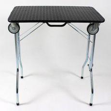 Trimmtisch klappbar mit Rollen 110 x 55 x 60 cm, schwarz