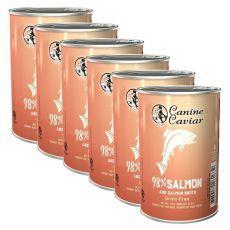 Feuchtnahrung Canine Caviar SALMON Grain Free 6 x 375 g