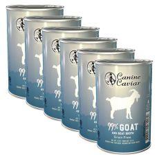 Feuchtnahrung Canine Caviar GOAT Grain Free 6 x 375 g